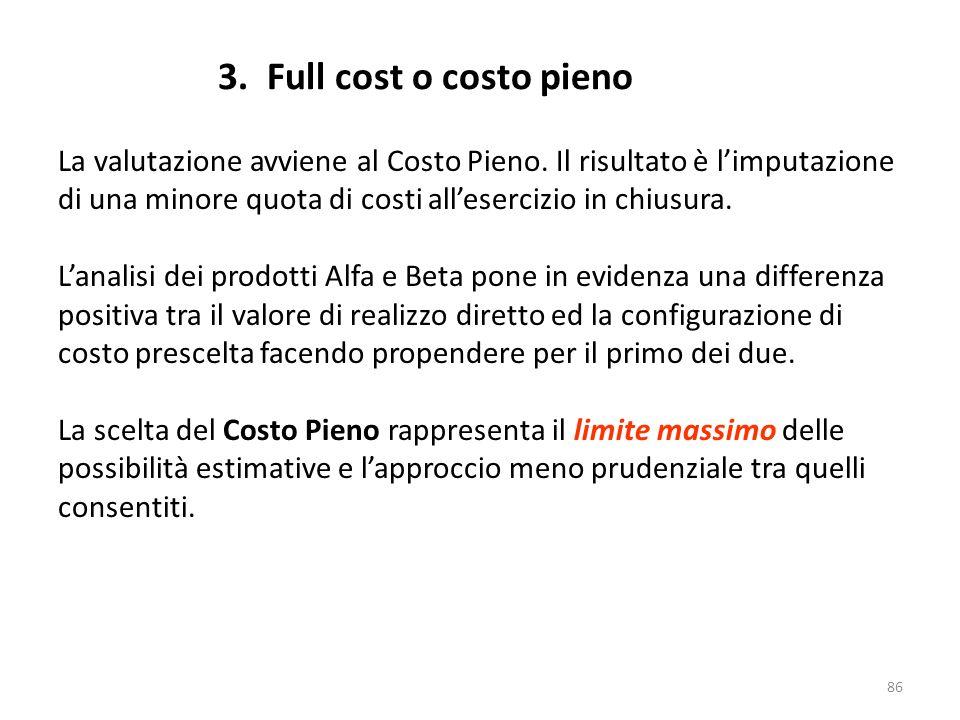 3. Full cost o costo pieno