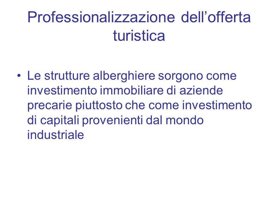 Professionalizzazione dell'offerta turistica