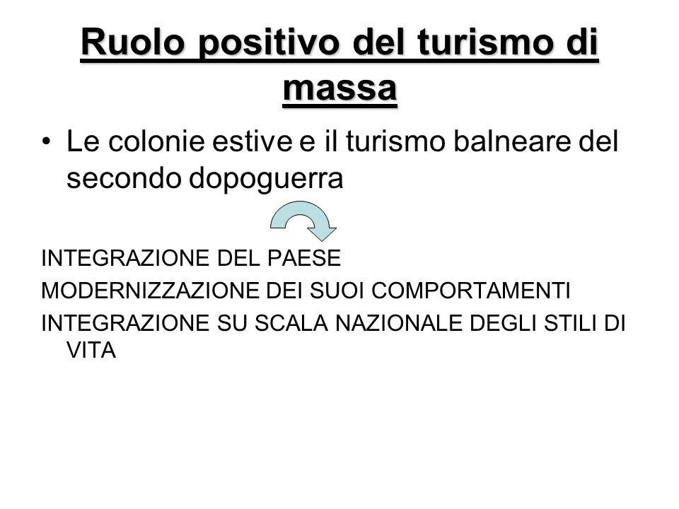 Ruolo positivo del turismo di massa