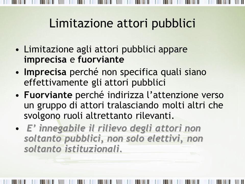 Limitazione attori pubblici
