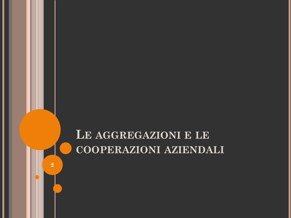 Le aggregazioni e le cooperazioni aziendali