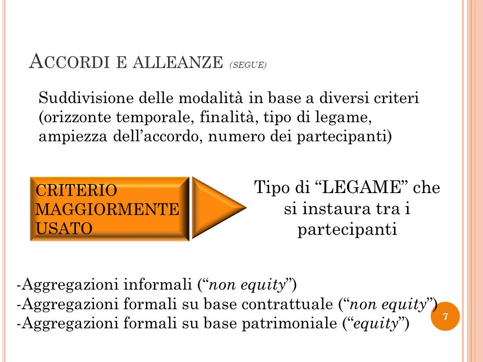 Accordi e alleanze (SEGUE)