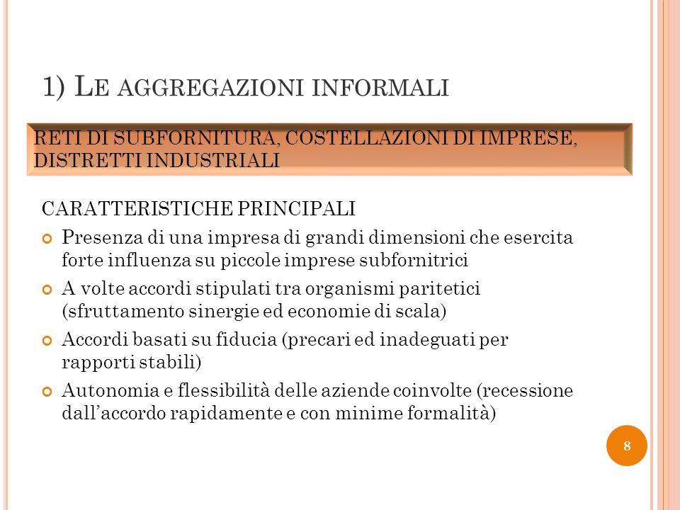 1) Le aggregazioni informali