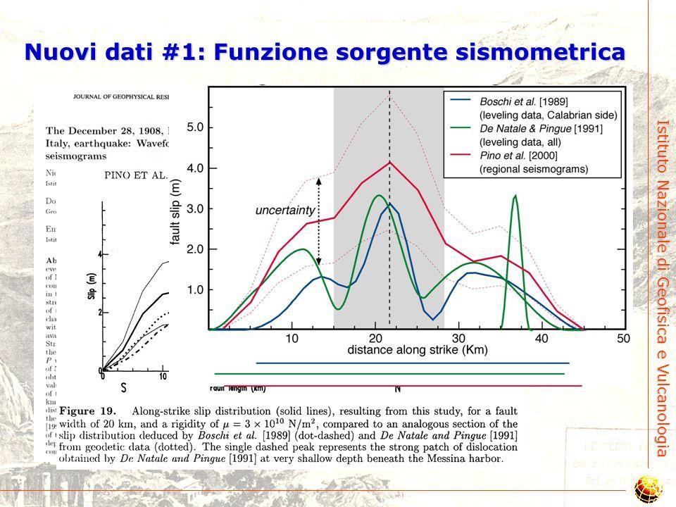 Nuovi dati #1: Funzione sorgente sismometrica