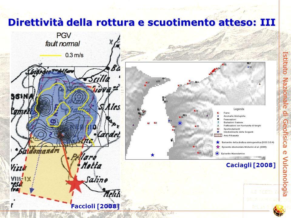 Direttività della rottura e scuotimento atteso: III