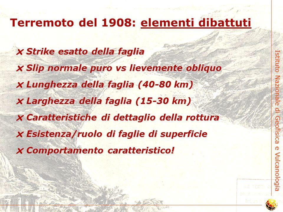 Terremoto del 1908: elementi dibattuti