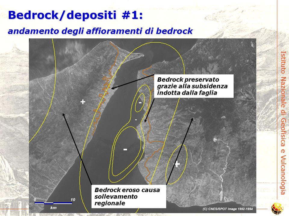 Bedrock/depositi #1: andamento degli affioramenti di bedrock