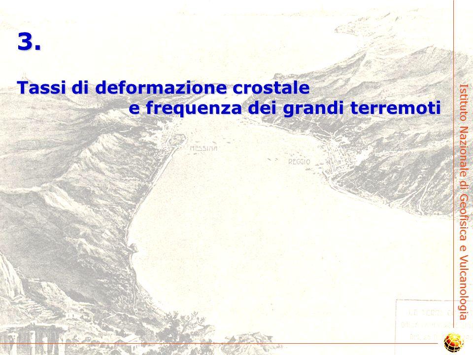 3. Tassi di deformazione crostale e frequenza dei grandi terremoti