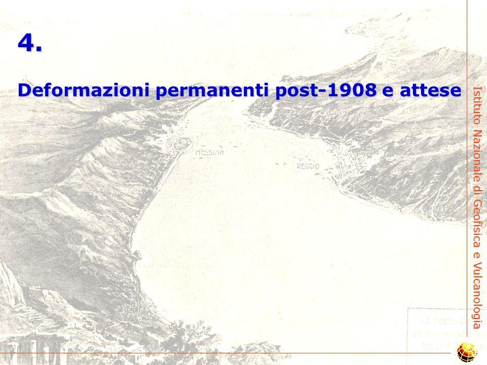 4. Deformazioni permanenti post-1908 e attese