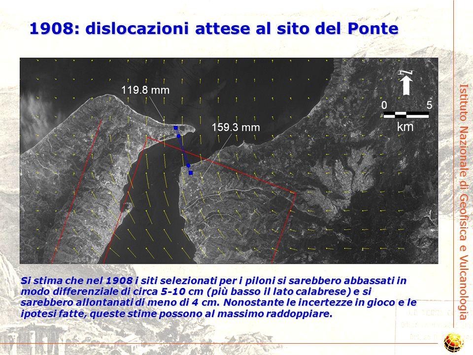 1908: dislocazioni attese al sito del Ponte