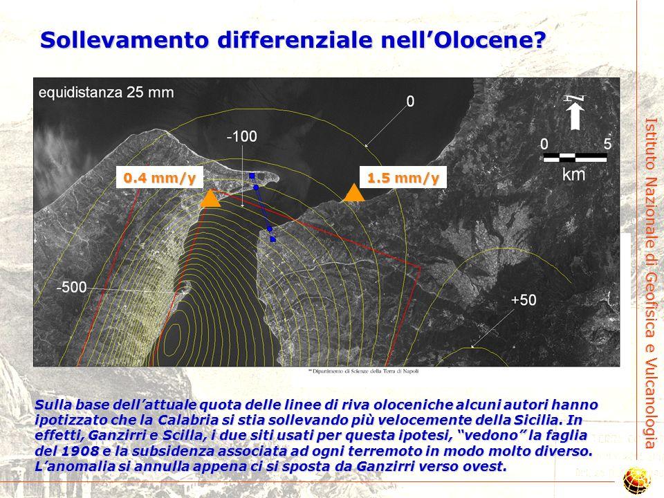 Sollevamento differenziale nell'Olocene