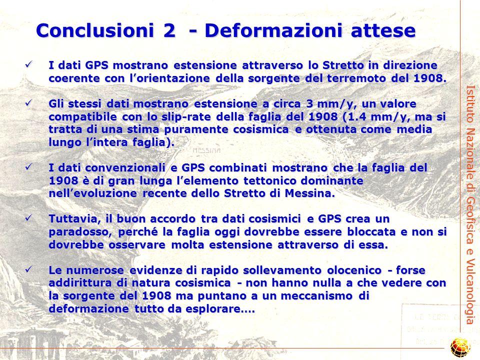 Conclusioni 2 - Deformazioni attese