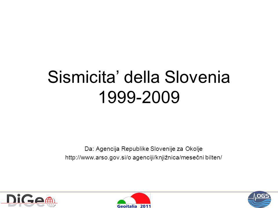 Sismicita' della Slovenia 1999-2009
