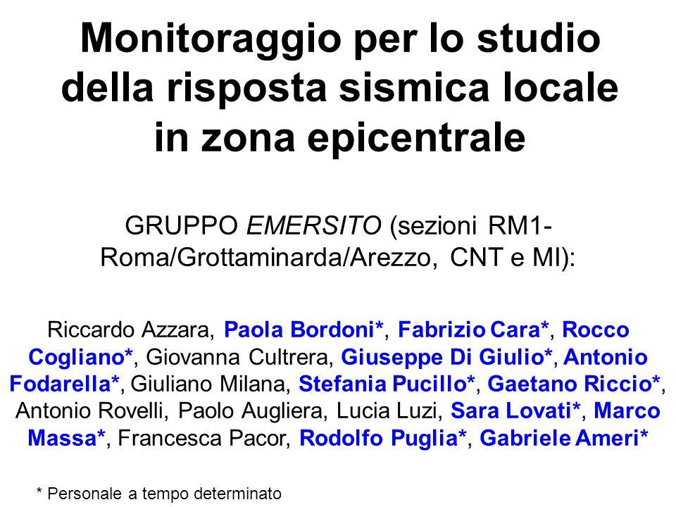 GRUPPO EMERSITO (sezioni RM1-Roma/Grottaminarda/Arezzo, CNT e MI):