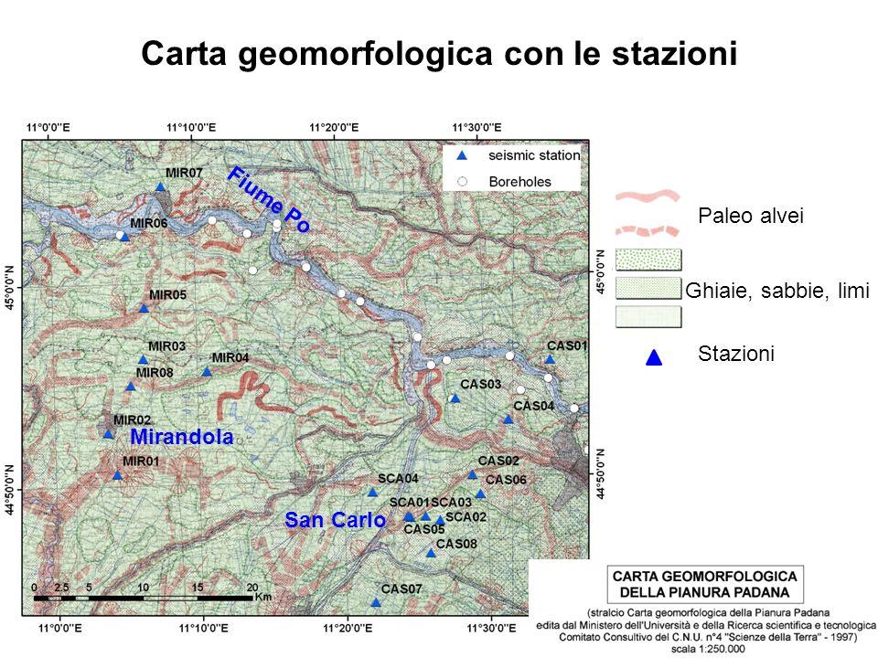 Carta geomorfologica con le stazioni