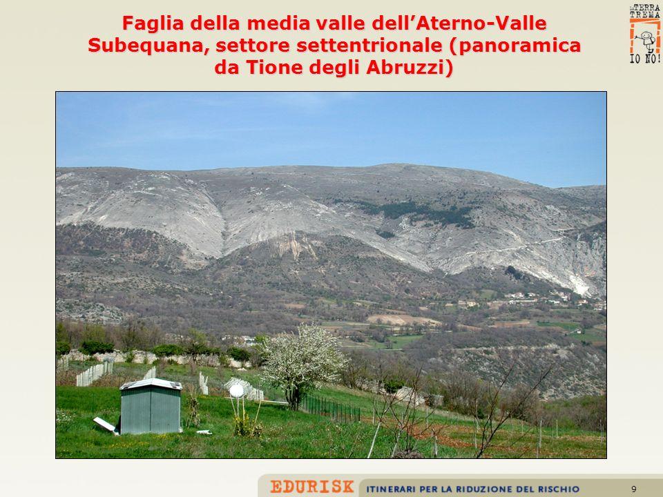 Faglia della media valle dell'Aterno-Valle Subequana, settore settentrionale (panoramica da Tione degli Abruzzi)