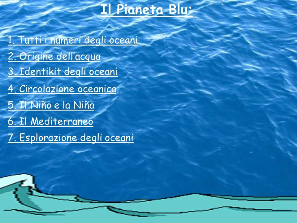 Il Pianeta Blu: 1. Tutti i numeri degli oceani 2. Origine dell'acqua