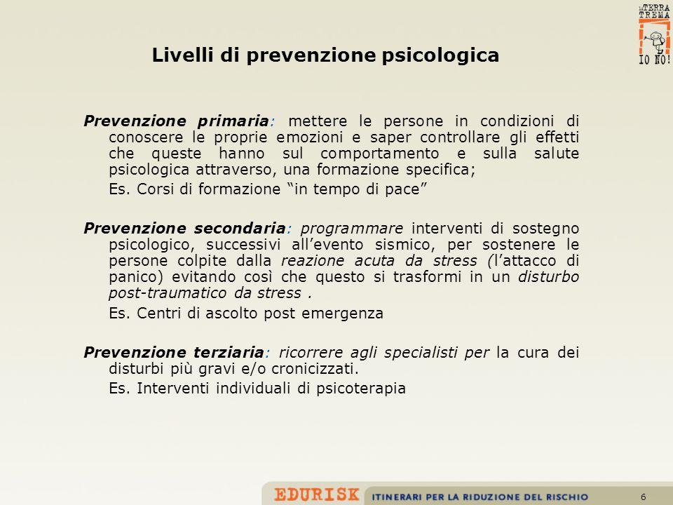 Livelli di prevenzione psicologica