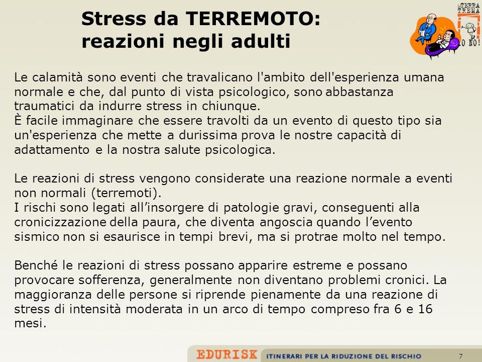 Stress da TERREMOTO: reazioni negli adulti