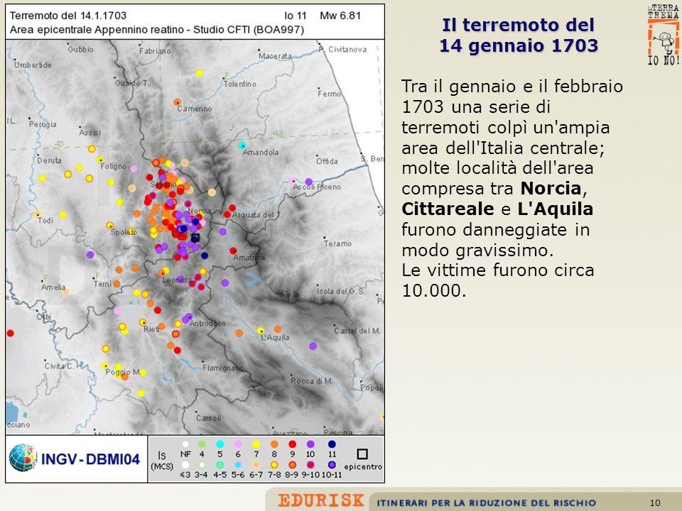 Il terremoto del 14 gennaio 1703.