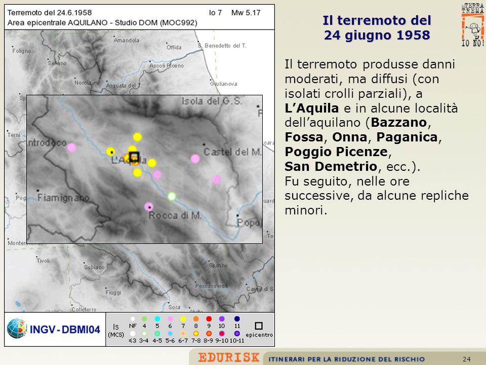 Il terremoto del 24 giugno 1958.