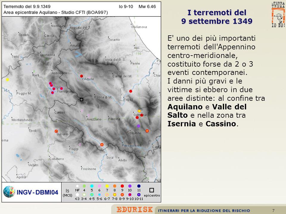 I terremoti del 9 settembre 1349