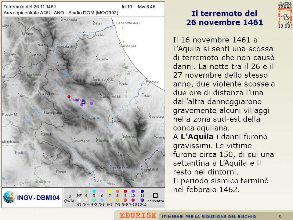 Il terremoto del 26 novembre 1461
