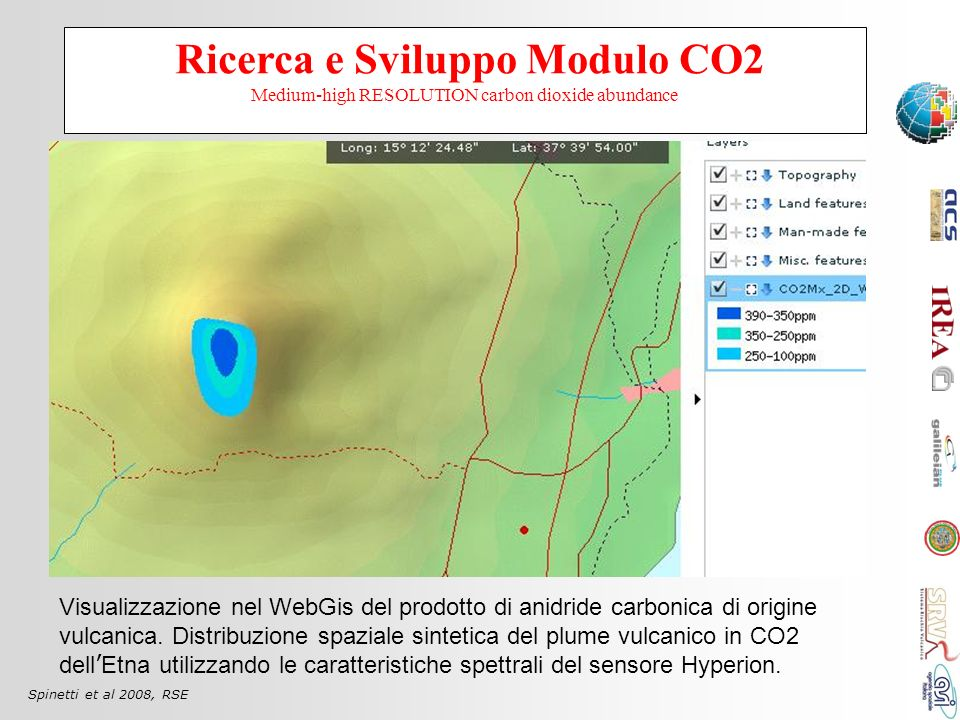 Ricerca e Sviluppo Modulo CO2 Medium-high RESOLUTION carbon dioxide abundance
