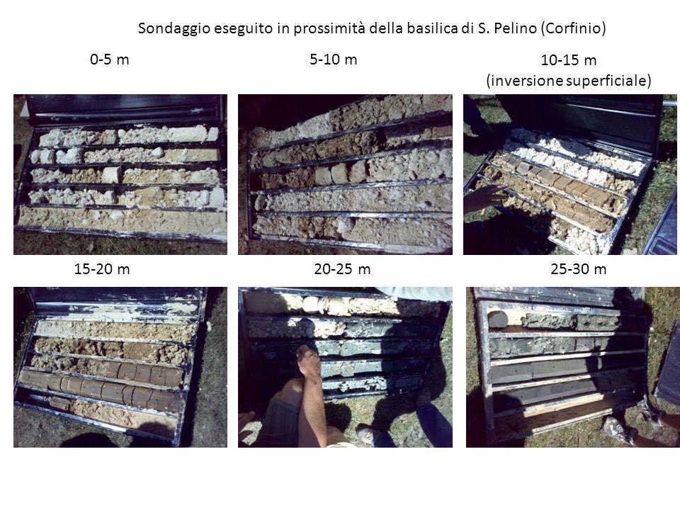 Sondaggio eseguito in prossimità della basilica di S. Pelino (Corfinio)