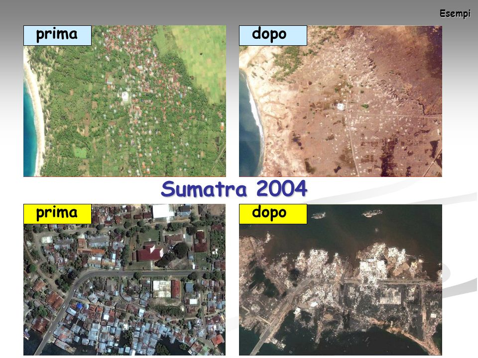 Esempi prima dopo Sumatra 2004 prima dopo