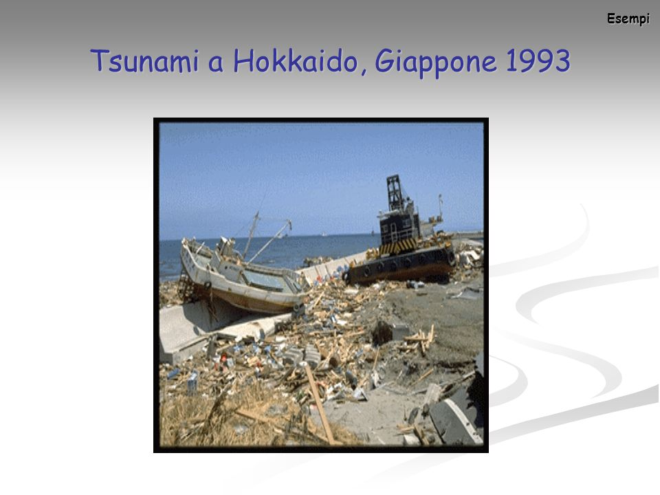 Tsunami a Hokkaido, Giappone 1993