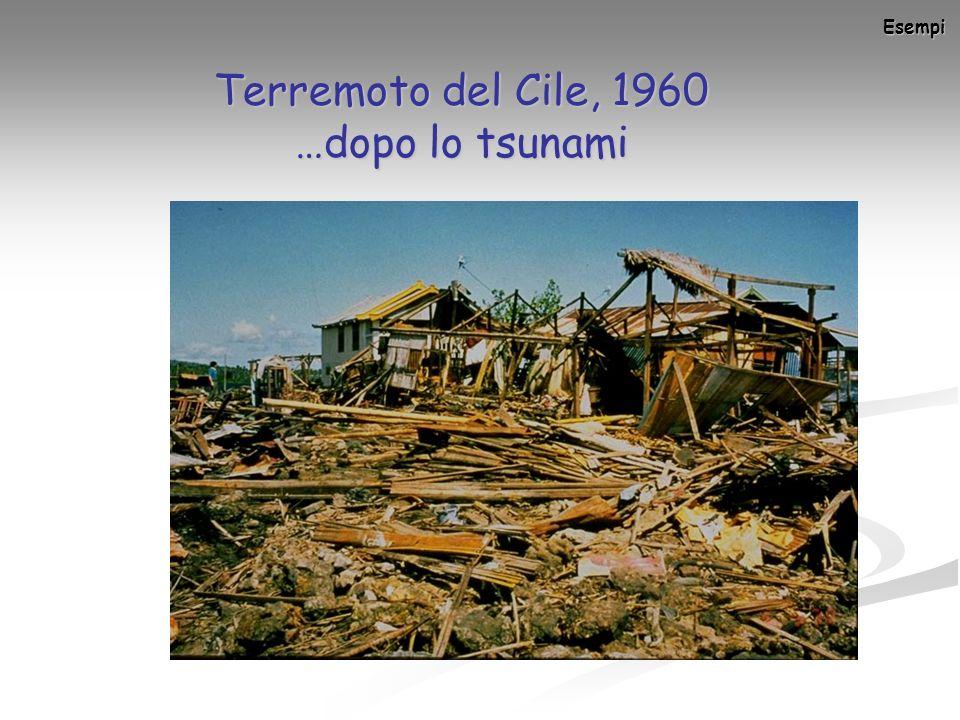 Esempi Terremoto del Cile, 1960 …dopo lo tsunami