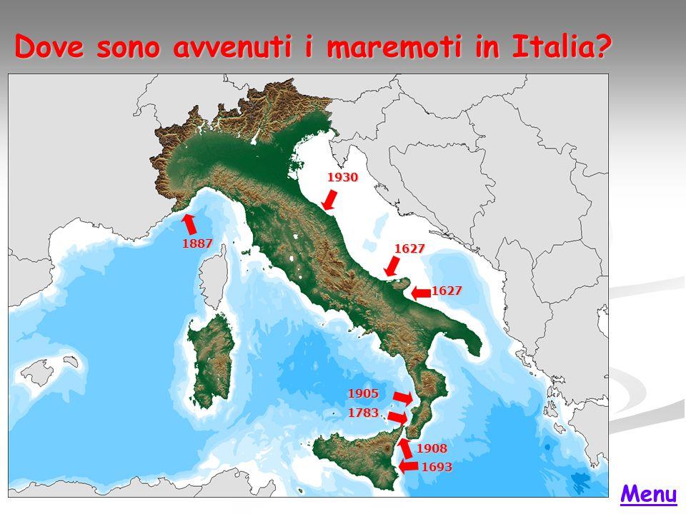Dove sono avvenuti i maremoti in Italia