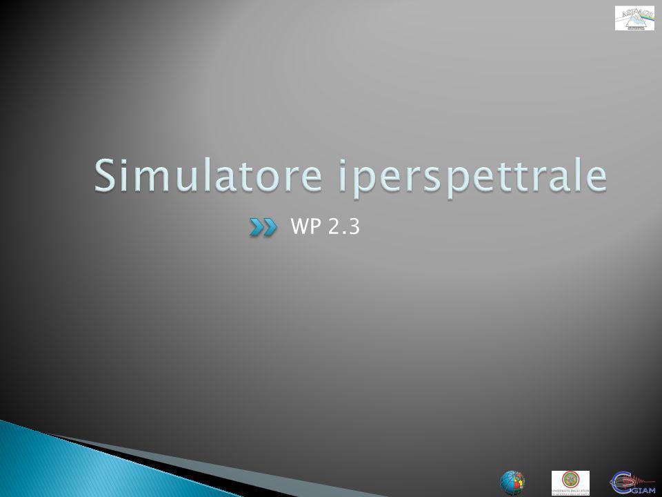 Simulatore iperspettrale