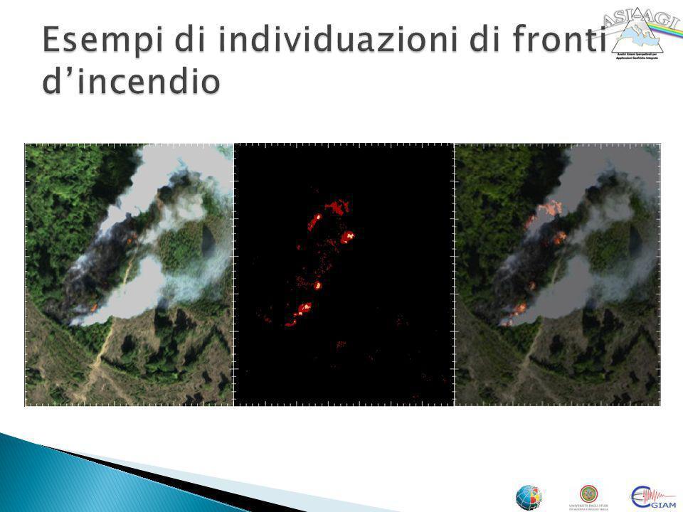 Esempi di individuazioni di fronti d'incendio