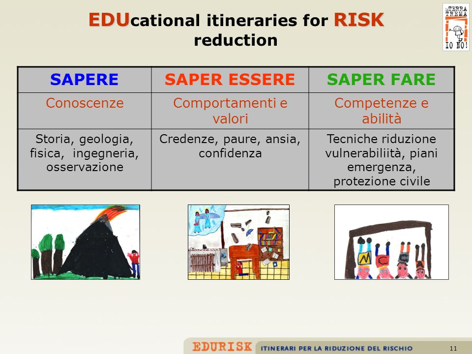 EDUcational itineraries for RISK reduction