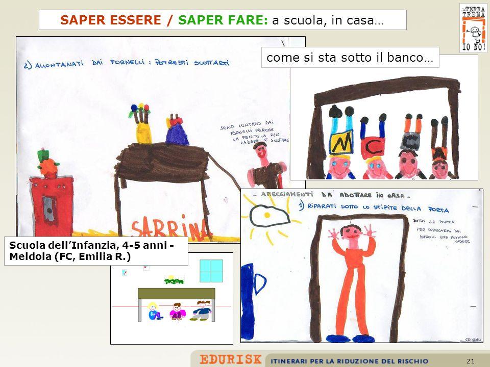 SAPER ESSERE / SAPER FARE: a scuola, in casa…