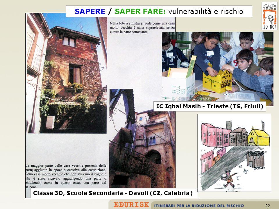 SAPERE / SAPER FARE: vulnerabilità e rischio