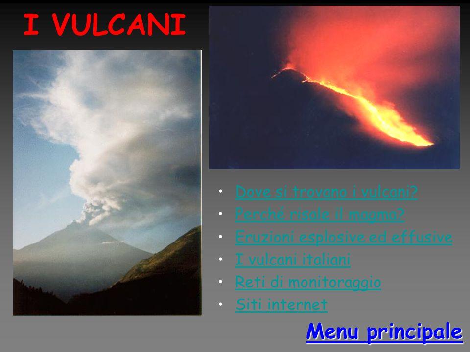 I VULCANI Menu principale Dove si trovano i vulcani