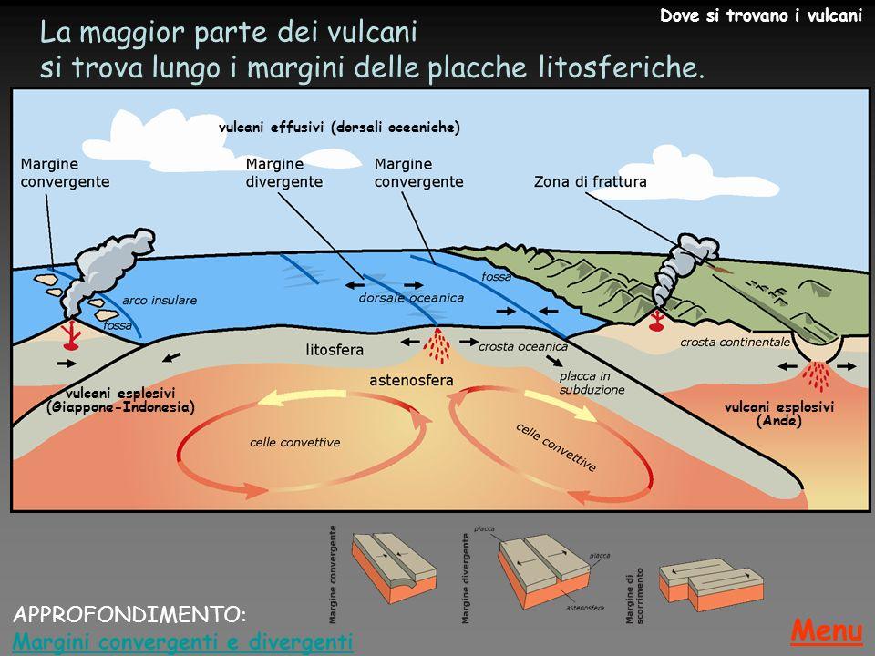 vulcani esplosivi (Giappone-Indonesia) vulcani esplosivi (Ande)
