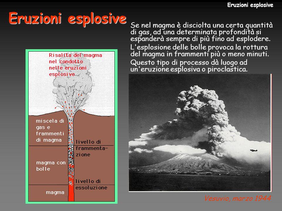 Eruzioni esplosive Eruzioni esplosive.