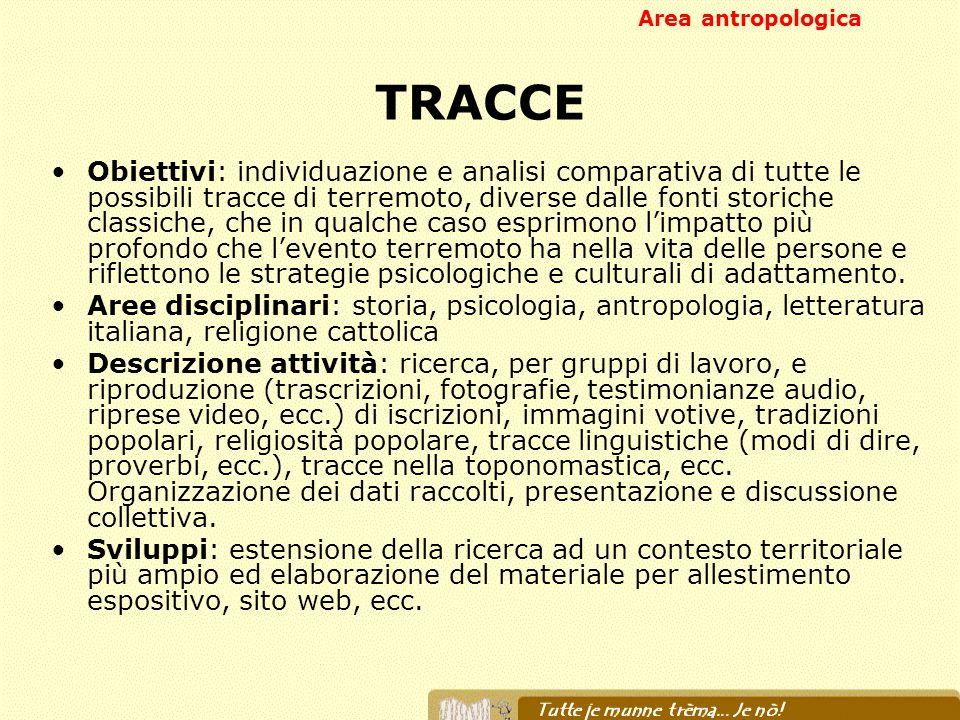 Area antropologica TRACCE.