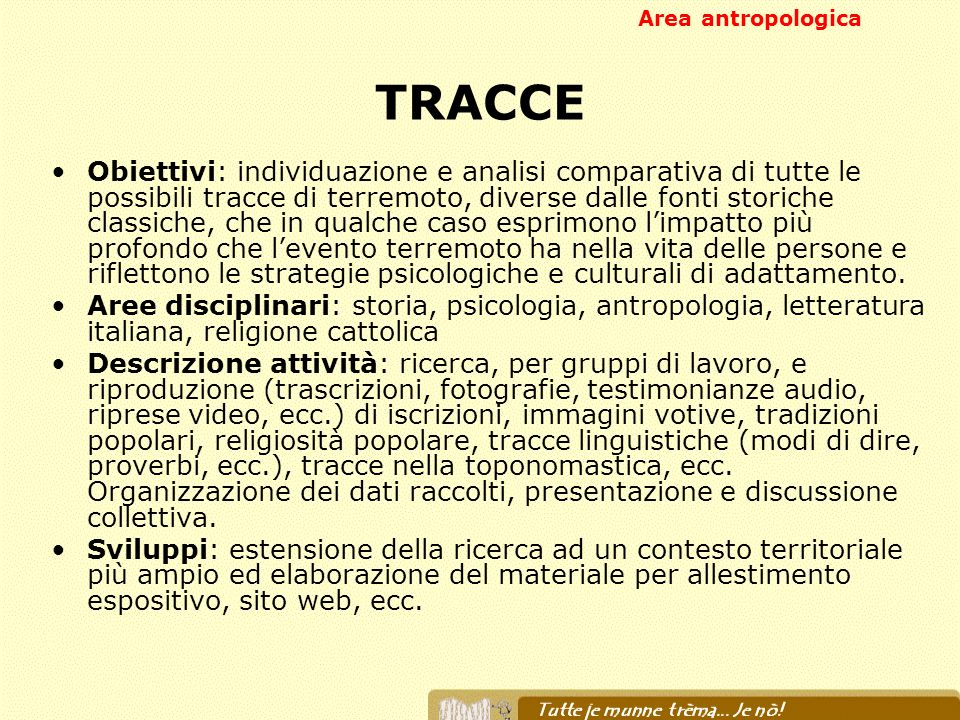 Area antropologicaTRACCE.