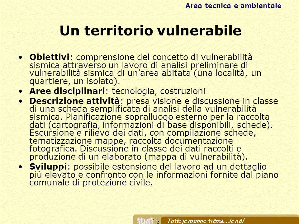 Un territorio vulnerabile