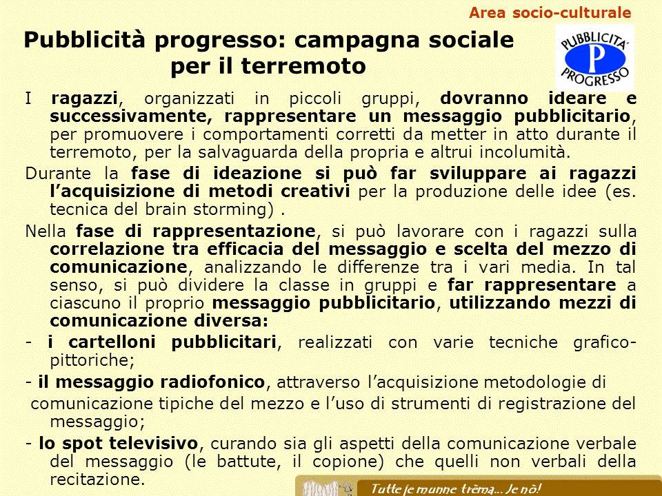 Pubblicità progresso: campagna sociale per il terremoto