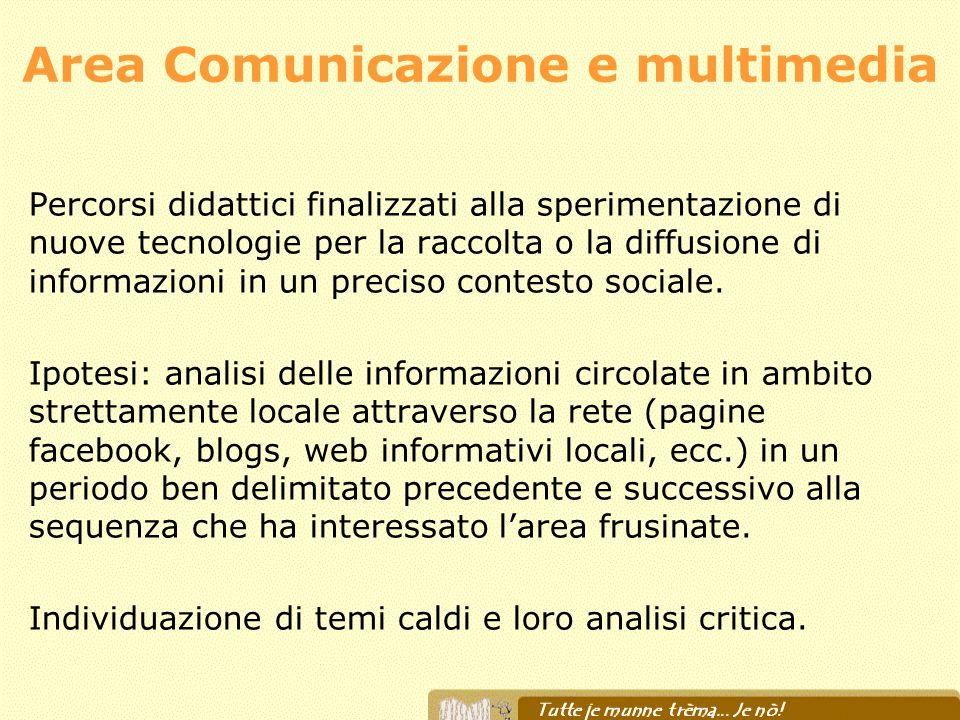 Area Comunicazione e multimedia