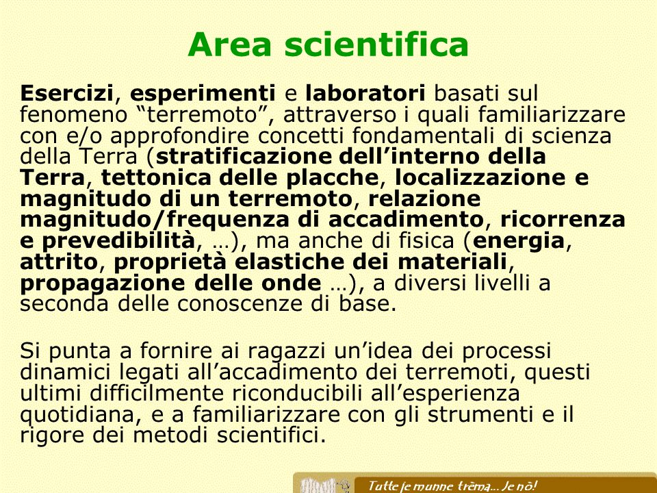 Area scientifica