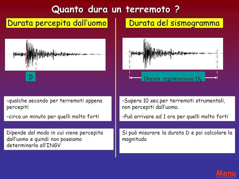 Quanto dura un terremoto