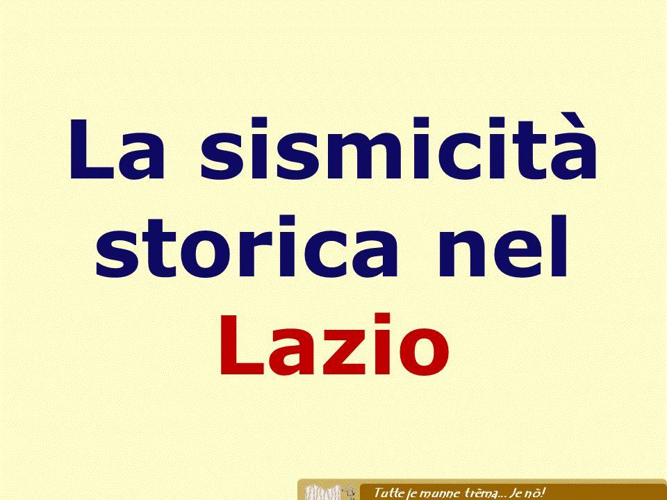 La sismicità storica nel Lazio