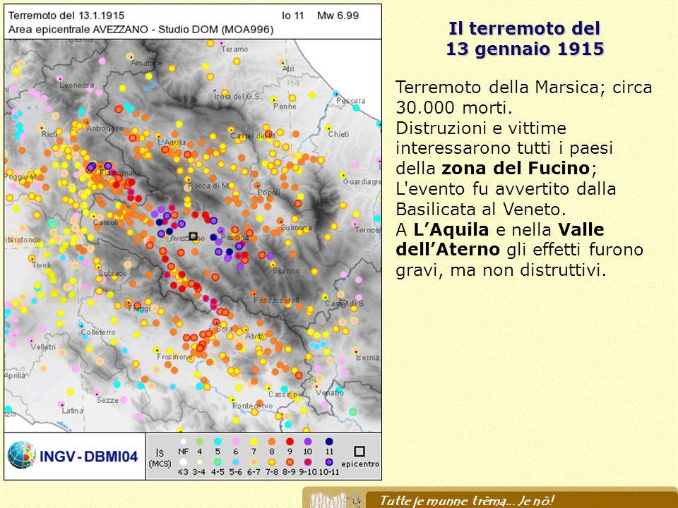 Il terremoto del 13 gennaio 1915